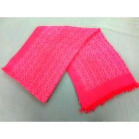 【中古】 トリーバーチ TORY BURCH ストール(ショール) 美品 ピンク コットン シルク