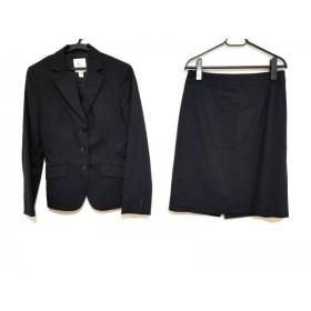 【中古】 クミキョク 組曲 KUMIKYOKU スカートスーツ サイズ上3 下4 レディース 黒