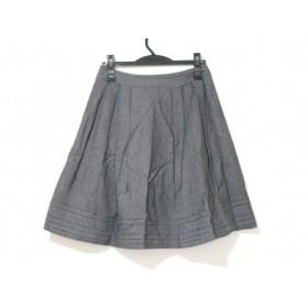 【中古】 フランコフェラーロ FRANCO FERRARO スカート サイズ2 M レディース ダークグレー