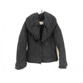 【中古】 ハナエモリ HANAE MORI ダウンジャケット サイズ40 M レディース ネイビー 冬物