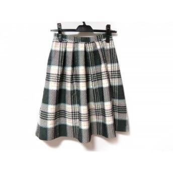 【中古】 アプワイザーリッシェ スカート サイズ0 XS レディース ダークグレー ピンク マルチ