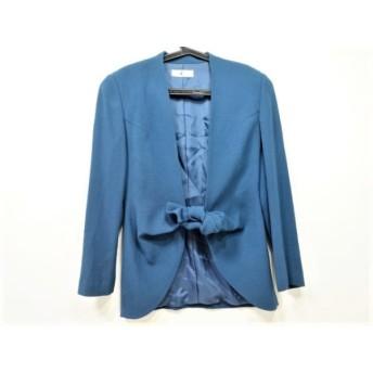 【中古】 ヒロココシノ HIROKO KOSHINO ジャケット サイズ9AT M レディース ブルー