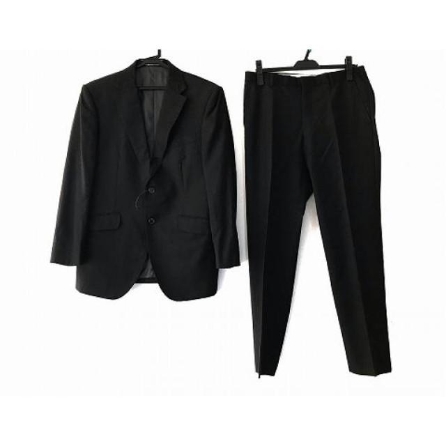 【中古】 バレンチノガラバーニ VALENTINOGARAVANI シングルスーツ メンズ ダークグレー ネーム刺繍