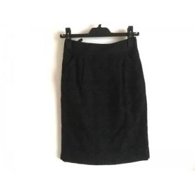 【中古】 マテリア MATERIA スカート サイズ36 S レディース 黒 ダークネイビー