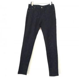 【中古】 ビアズリー BEARDSLEY パンツ サイズ0 XS レディース ダークネイビー 黒 花柄