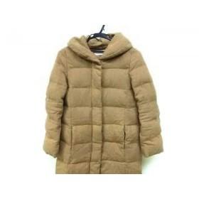 【中古】 リエス Liesse ダウンコート サイズ2 M レディース ライトブラウン 冬物 ポリエステル、ナイロン