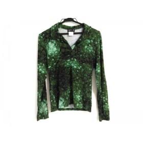 【中古】 アニエスベー agnes b 長袖カットソー サイズ2 M レディース ダークグリーン ライトグリーン