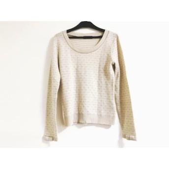 【中古】 スウィングル Swingle 長袖セーター サイズ1 S レディース 美品 ベージュ ラメ