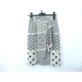 【中古】 ノーブランド スカート サイズ9 M レディース ベージュ ブラック