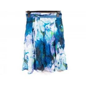 【中古】 ドゥーズィエム DEUXIEME CLASSE スカート サイズ36 S レディース ライトブルー ブルー マルチ