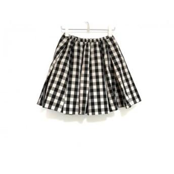 【中古】 フレイアイディー FRAY I.D スカート サイズ0 XS レディース 白 黒 グレー チェック柄