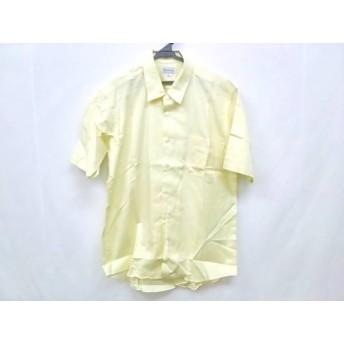 【中古】 バーバリーズ Burberry's 半袖シャツ サイズLarge L メンズ 新品同様 イエロー