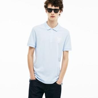 『LACOSTE』 レタリング レギュラーフィット ポロシャツ (半袖)