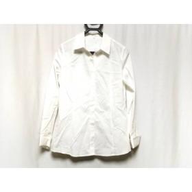 【中古】 ニジュウサンク 23区 長袖シャツブラウス サイズ42 L レディース 美品 白