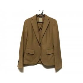 【中古】 フレディ Fredy ジャケット サイズ38 M レディース ブラウン カシミヤウールキュプラ