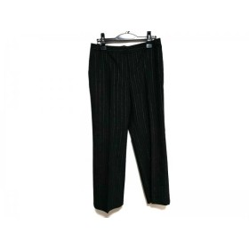 【中古】 ジバンシー パンツ サイズ42 L レディース 美品 ダークグレー ゴールド ストライプ/BOUTIQUES