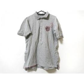 【中古】 ツモリチサト TSUMORI CHISATO 半袖ポロシャツ サイズ2 M レディース グレー マルチ 花柄