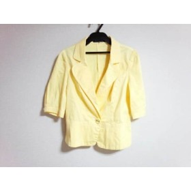 【中古】 エムズグレイシー M'S GRACY ジャケット サイズ40 M レディース イエロー 七分袖