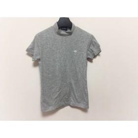 【中古】 パーリーゲイツ PEARLY GATES 半袖Tシャツ サイズ0 XS レディース ライトグレー ハイネック
