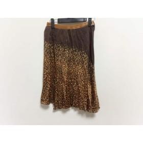 【中古】 アンナモリナーリ スカート サイズD36 レディース ダークブラウン ブラウン ライトブラウン