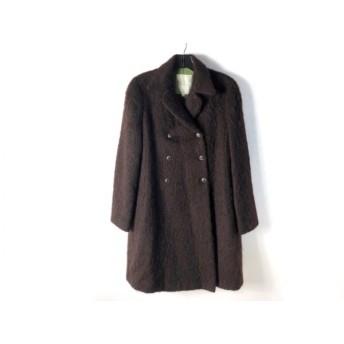 【中古】 シビラ Sybilla コート サイズ40 XL レディース ダークブラウン 冬物
