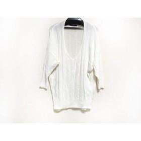 【中古】 マカフィ MACPHEE 七分袖セーター サイズS レディース 白