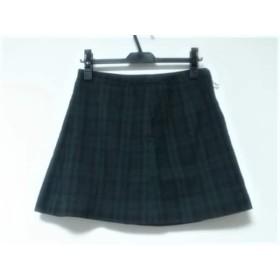 【中古】 クリアインプレッション スカート サイズ2 M レディース ダークグリーン ダークネイビー