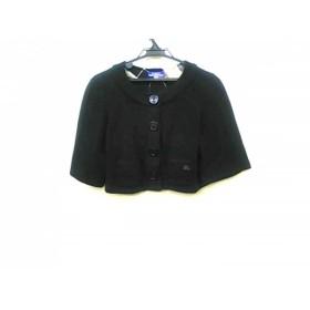【中古】 バーバリーブルーレーベル Burberry Blue Label ジャケット サイズ38 M レディース 黒 ニット