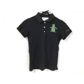 【中古】 マンシングウェア Munsingwear 半袖ポロシャツ サイズ0 XS レディース 黒 ライトグリーン