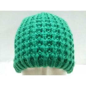 【中古】 アンダーアーマー UNDER ARMOUR ニット帽 美品 グリーン 化学繊維
