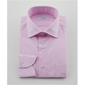 [シャツ]ダブルエイチ ドレスシャツ HH8S-W-027 ピンクストライプ 38-84