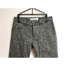 【中古】 ルシェルブルー LE CIEL BLEU パンツ サイズ36 S レディース グレー 黒 豹柄