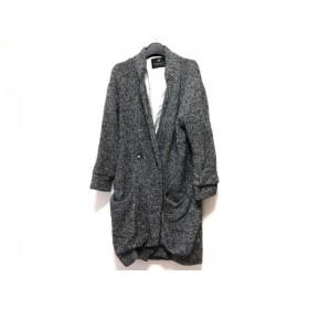 【中古】 メゾンスコッチ MAISON SCOTCH コート サイズ1 S レディース 黒 白 グレー 春・秋物