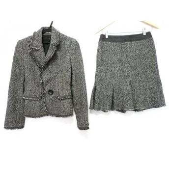 【中古】 ピンキー&ダイアン Pinky & Dianne スカートスーツ レディース グレー ラメ