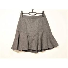 【中古】 ジユウク 自由区/jiyuku スカート サイズ38 M レディース ライトグレー グレー