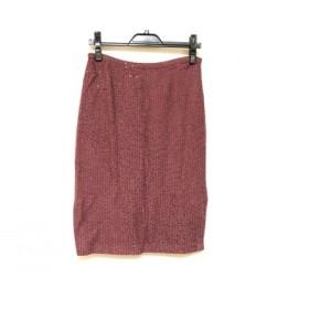 【中古】 セントジョン ST. JOHN スカート サイズ4 XL レディース 美品 パープル ラインストーン