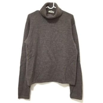 【中古】 アニエスベー agnes b 長袖セーター サイズ1 S メンズ ダークブラウン タートルネック/homme