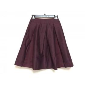 【中古】 ナラカミーチェ NARACAMICIE スカート サイズ0 XS レディース ボルドー