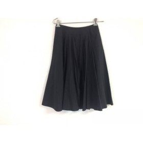 【中古】 シビラ Sybilla スカート サイズM レディース 黒 プリーツ