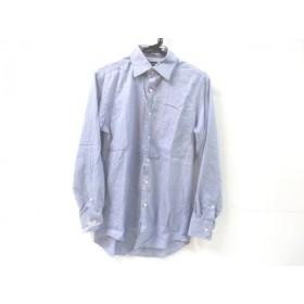 【中古】 ノーブランド 長袖シャツ サイズM メンズ ブルー ホワイト