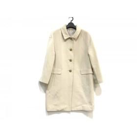 【中古】 ケミット KEMIT コート サイズ38 M レディース ライトグレー アイボリー 春・秋物