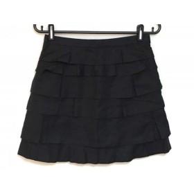 【中古】 ドゥロワー Drawer ミニスカート サイズ36 S レディース 黒 フリル