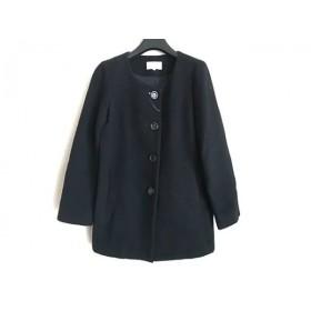 【中古】 エムプルミエ M-PREMIER コート サイズ38 M レディース 黒 ショート丈/冬物