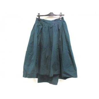 【中古】 ノーブランド ロングスカート サイズF レディース グリーン