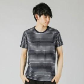 イグニオ メンズ クルーネックパック 半袖Tシャツ (IG-9C14019UT) : ネイビー×ホワイト IGNIO
