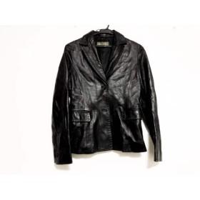 【中古】 デプレ DES PRES ジャケット レディース 黒 ショート丈/羊革