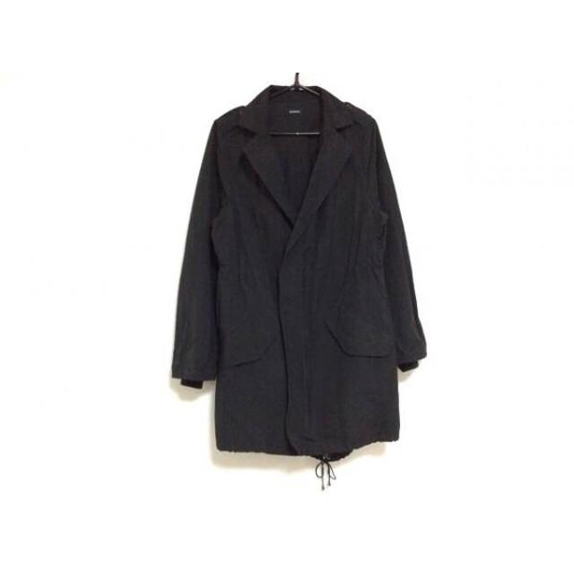 【中古】 エモダ EMODA コート サイズS レディース 美品 黒 ブラウン 冬物/ジップアップ/ファー