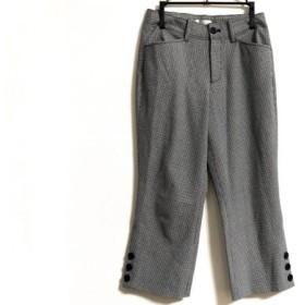 【中古】 ビースリー B3 B-THREE パンツ サイズ57〜60 レディース 黒 白 千鳥格子