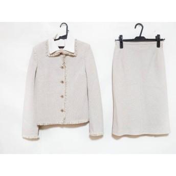 【中古】 モガ MOGA スカートスーツ レディース ベージュ アイボリー