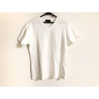 【中古】 エポカ EPOCA 半袖Tシャツ サイズ48 XL メンズ 白 ペイズリー柄